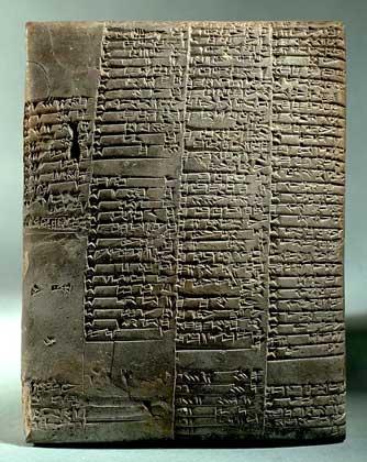 IGDA/G. Dagli Orti     ШУМЕРСКАЯ ГЛИНЯНАЯ КЛИНОПИСНАЯ ТАБЛИЧКА (3500 до н.э.).
