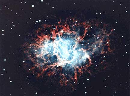 Malin/Pasachoff/Caltech       КРАБОВИДНАЯ ТУМАННОСТЬ В ТЕЛЬЦЕ  разлетающиеся остатки звезды, взорвавшейся в 1054.
