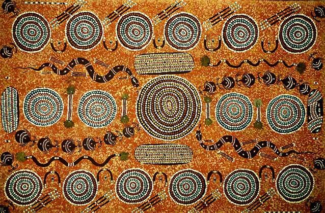 IGDA/G. Sioen ОБРАЗЕЦ ДЕКОРАТИВНОГО ИСКУССТВА австралийских аборигенов.