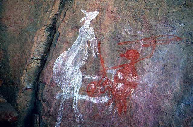 IGDA/G. Sioen НАСКАЛЬНАЯ ЖИВОПИСЬ австралийских аборигенов.