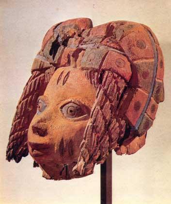 МАСКА. Дерево. Бенин (народ йоруба). Национальный музей, Копенгаген