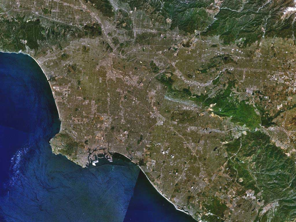NASA ЛОС-АНЖЕЛЕС. Снимок из космоса