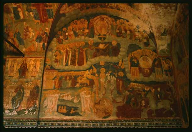 СЦЕНА СТРАШНОГО СУДА. 1715–1716. Церковь Ильи Пророка в Ярославле. Фреска