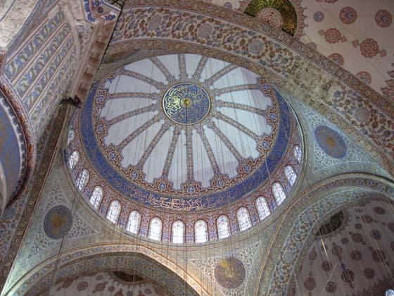 СТАМБУЛ. Мечеть Сулеймание. Фрагмент внутреннего убранства. Архитектор Синан.