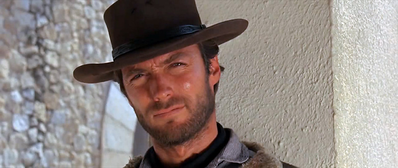 "Клинт Иствуд. Кадр из фильма ""За пригоршню долларов"" (A Fistful of Dollars, 1964)"